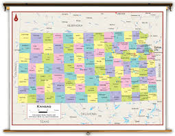 Kansas Map Kansas State Political Classroom Map From Academia Maps
