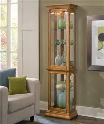 Images Of Curio Cabinets Pulaski Furniture Curios Estate Oak Curio Cabinet John V Schultz