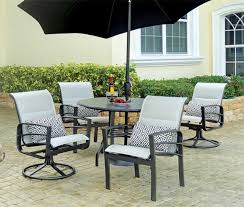 powder coated aluminum outdoor dining table powder coated aluminum padded sling dining and swivel rocker chairs