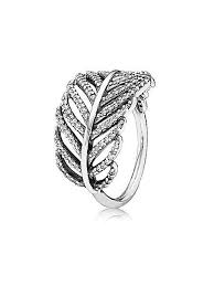 we offer pandora silver pavé feather ring 190886cz discount