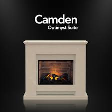 the camden fireplace suite in roman stone with dimplex optimyst