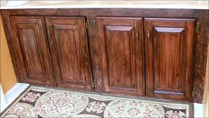 Stain Oak Cabinets Kitchen Wonderful How To Stain New Cabinets How To Clean