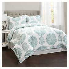 seafoam evelyn medallion comforter set 4pc lush decor target