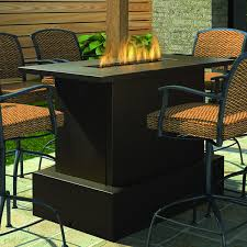 Firepit Patio Table Firegear Key West Bar Table Woodlanddirect Outdoor In Height