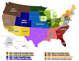 Map Of United States And Capitals by Geographical Unions U2013 Usa Rugby