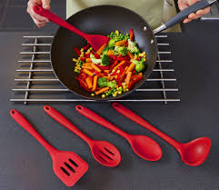 Red Kitchen Utensil Set - only 12 99 hst high quality red silicone kitchen utensil sets