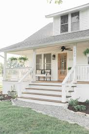 farmhouse porch curb appeal makeover reveal country farmhouse