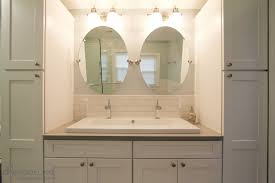 double trough sink bathroom vanity white ceramic undermount on