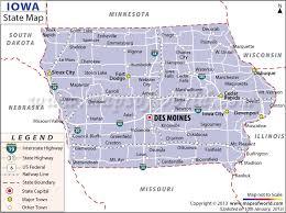 map of iowa towns iowa state map