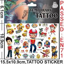 free dhl cartoon dog style nickelodeon dog temporary tattoos