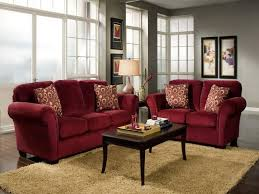 stylish red sofa living room what color walls designs ideas