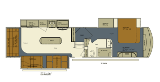 type b motorhome floor plans evergreen rv introduces bay hill 369rl designed for full timers