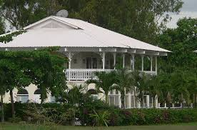 example of a beach house built in a french colonial style with