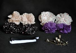 How To Make Flower Hair Clips - easy no sew flower hair clips and elastic headbands in less than
