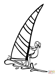 windsurfer coloring page free printable coloring pages