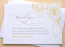 funeral thank you cards or sympathy thank you cards with a big yellow
