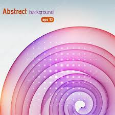 Pink Color Wheel by Abstract Background With Smooth Lines Color Waves Pattern Art
