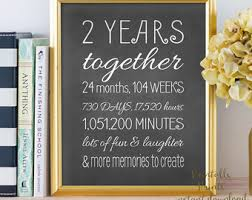 anniversary gifts for him 2 years 2 year anniversary etsy
