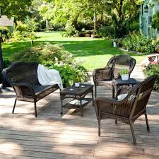 Patio Furniture Conversation Sets by Outdoor Wicker Furniture Sets Costco Resin Wicker Outdoor Patio