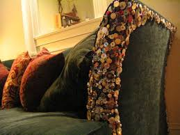 How To Repair Couch Upholstery Buttons Sewn On A Couch To Cover Cat Scratches And Discourage