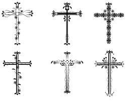 small feminine cross tattoos ideas