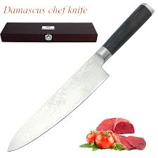 ausid damascus chef knife best quality japanese vg10 super steel