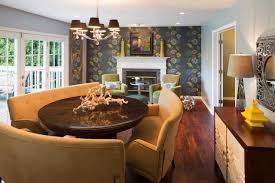 hgtv round dining room tables small green dining room with round