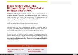 black friday 2017 the ultimate step by step guide to shop like a pro