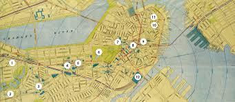 Boston Map 1770 by Bpl Exhibitions U2013 Tourist Trades