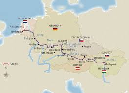 map of germany showing rivers grand european tour amsterdam budapest river cruise viking