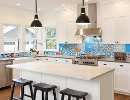 picture of backsplash kitchen top 15 patchwork tile backsplash designs for kitchen
