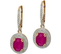 ruby drop earrings oval ruby pave diamond drop earrings 14k gold 2 80 cttw page