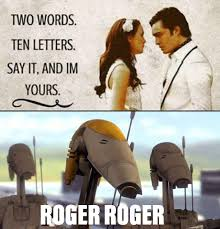 Roger Meme - roger roger three words eight letters know your meme