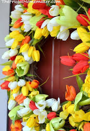 Easter Decorations Wreath by Spring Tulip Wreath Hometalk