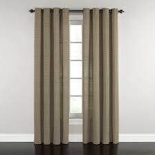 Waverly Curtain Panels Shop Waverly Grantham Plaid 84 In Chestnut Cotton Grommet Single