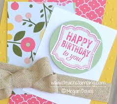 stampin up birthday card ideas u2013 gangcraft net