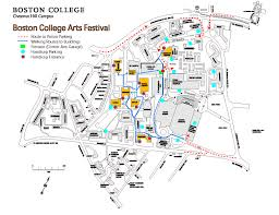 Map Of T Boston by Directions To The Arts Festival Boston College