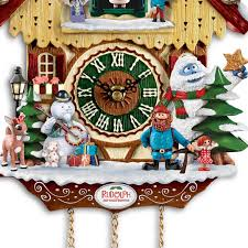 bradford exchange home decor amazon com cuckoo clock rudolph the red nosed reindeer 50th