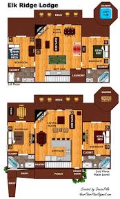 elk ridge lodge a gatlinburg cabin rental view image gallery view floorplan