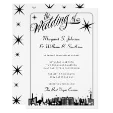 vegas wedding invitations las vegas wedding invitations announcements zazzle