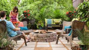 Backyard Pavers Paver Patio With Fire Pit