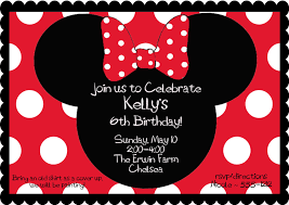 minnie mouse party invitations marialonghi com