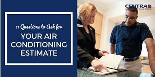 Central Air Conditioning Estimate by 11 Questions To Ask For Your Air Conditioning Estimate