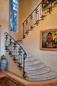 Banister Homes Beautiful Spanish Style Wrought Iron Railing On Stone Steps With
