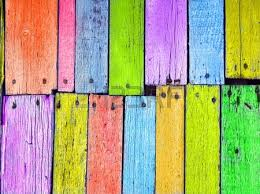 colorful wood board nailed grunge background stock photo picture
