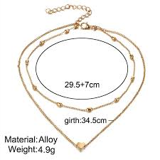 heart drop necklace images Rscvonm brand stella double horn pendant heart necklace gold dot jpg