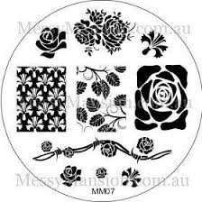 amazon com messy mansion mm07 nail art stamping plate roses