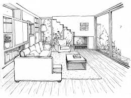 two point perspective kitchen drawing exercises linear lesson one