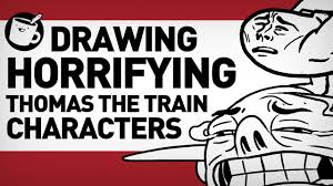 drawing thomas tank engine original characters