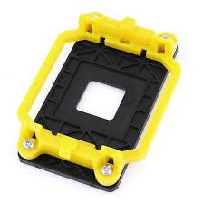 amazon com uxcell black yellow plastic amd cpu fan stand bracket
